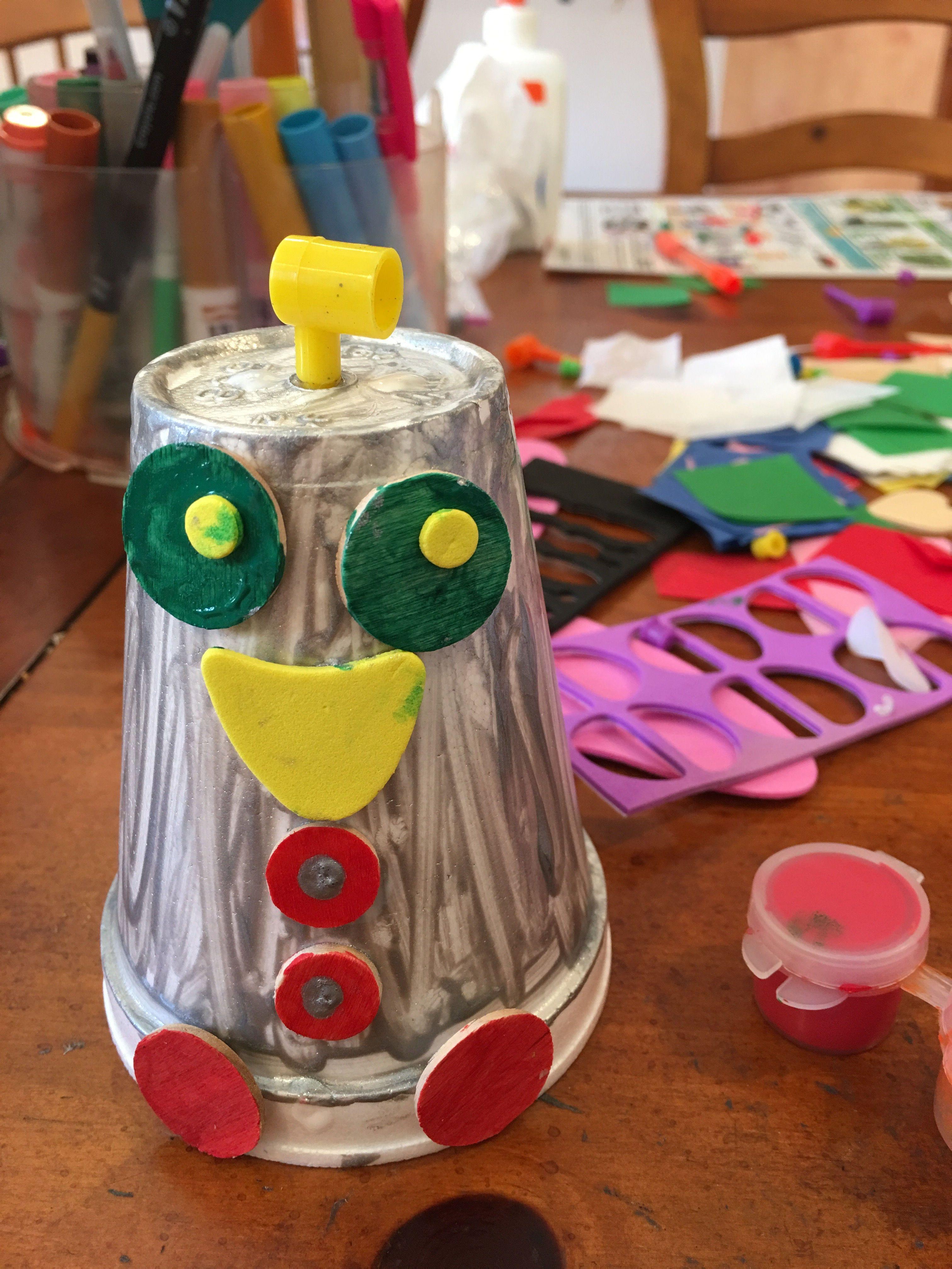 Styrofoam Cup Robots