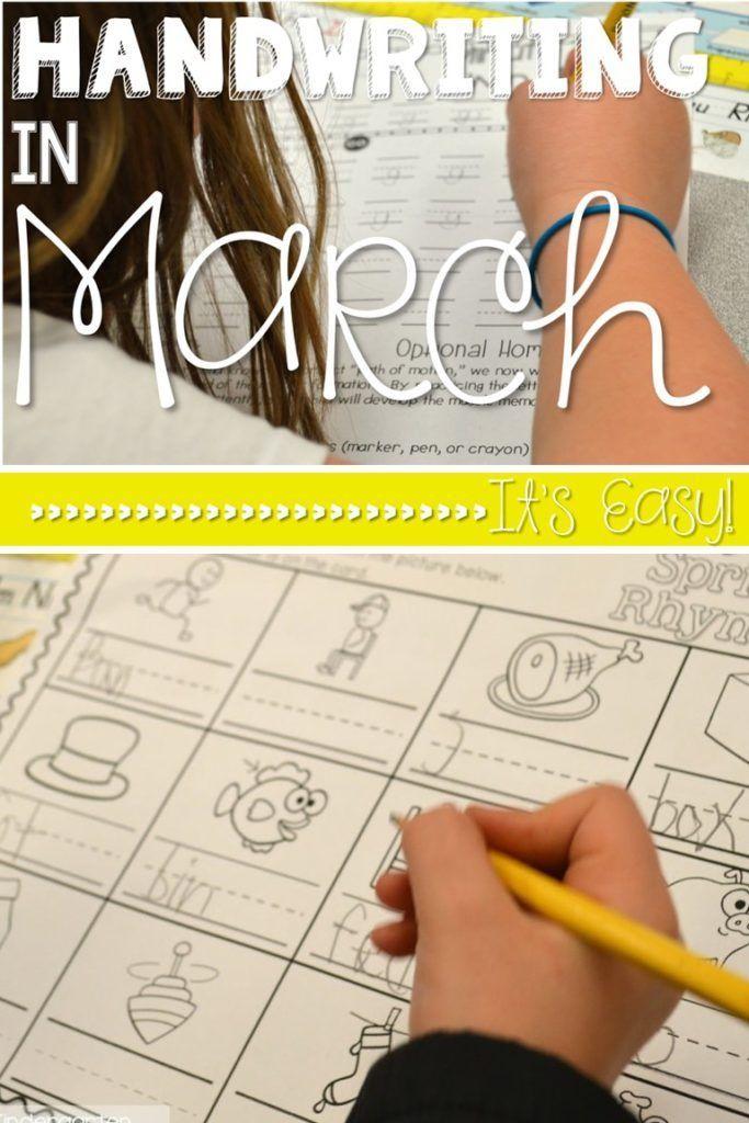 Kindergarten Handwriting Activities   Kind