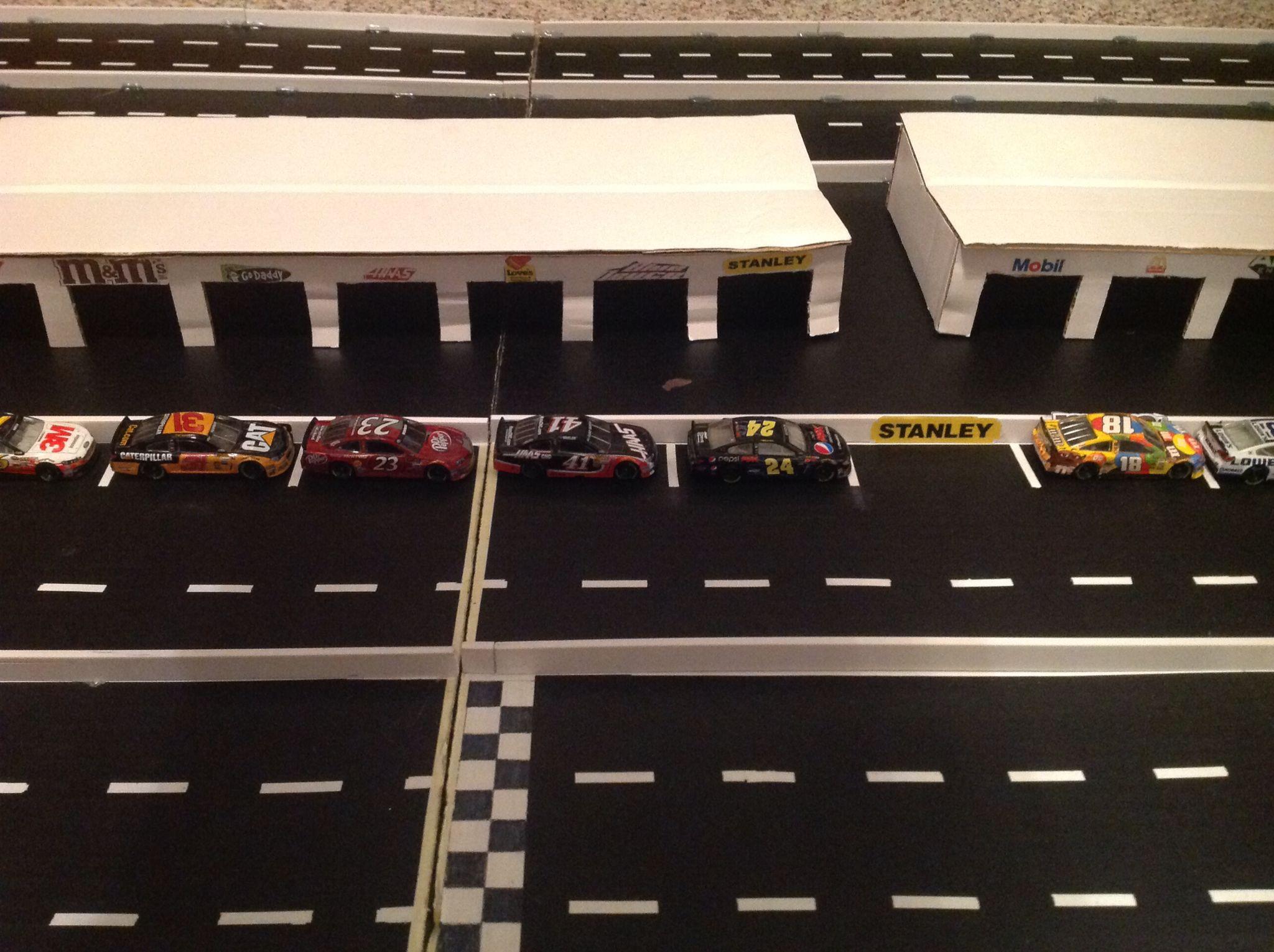 Homemade Nascar Race Track Nascar Race Tracks Nascar Slot Car Tracks