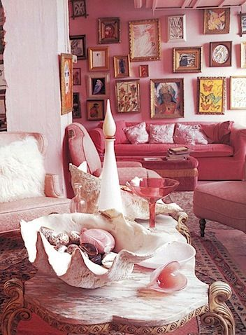 Zing! Pow! | ID Please** | Pinterest | Living rooms, Room and Pink sofa