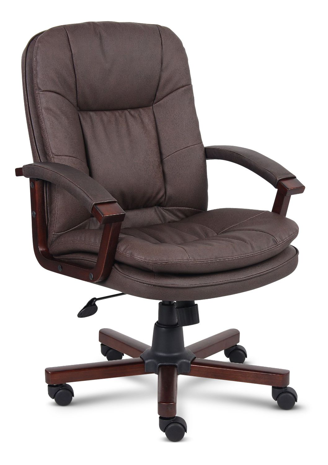 Brown Bomber Leather Office Chair Executive office