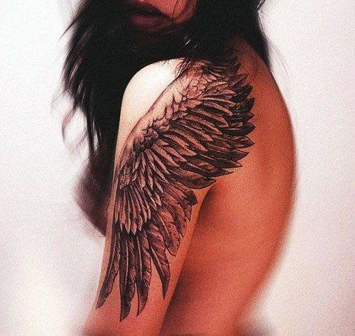 Tatuaże Damskie Skrzydło Na Ramię Tattoos Tatuaże