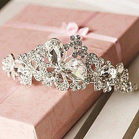 FLOW ZIG Womens RhinestoneAlloy Headpiece  Wedding TiarasHeadbands * See this great product.(This is an Amazon affiliate link and I receive a commission for the sales)