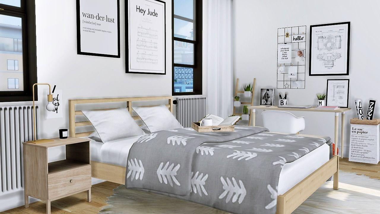 Lana CC Finds mxims Thorne Bedroom IKEA Tarva Bed IKEA