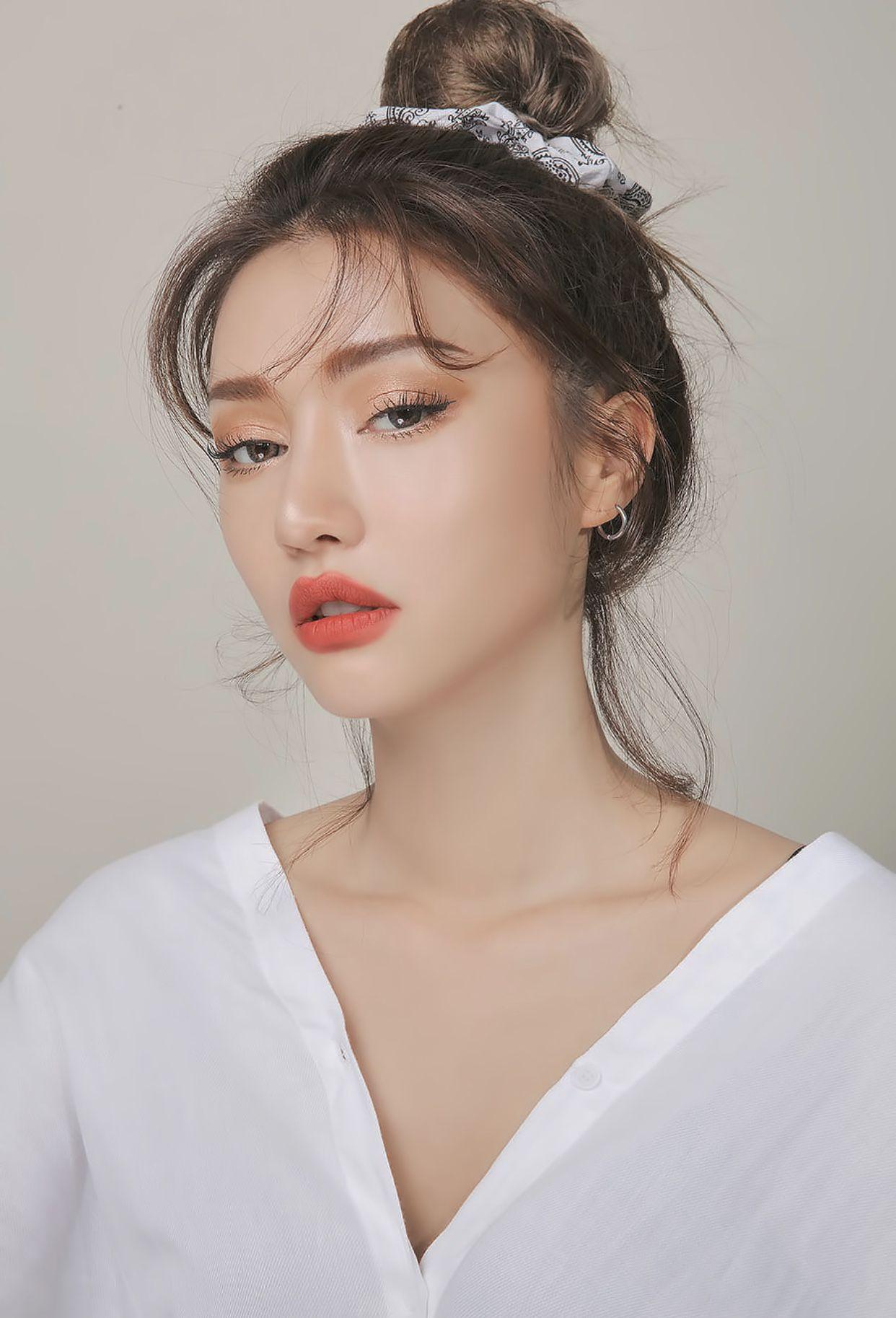 𝚙𝚒𝚗𝚝𝚎𝚛𝚎𝚜𝚝 𝚖𝚊𝚝𝚌𝚑𝚊𝚋𝚞𝚗 Natural summer makeup, Korean
