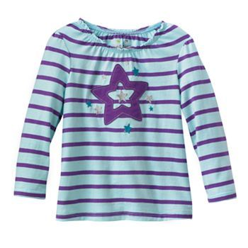 Jumping Beans Striped Star Tee - Baby