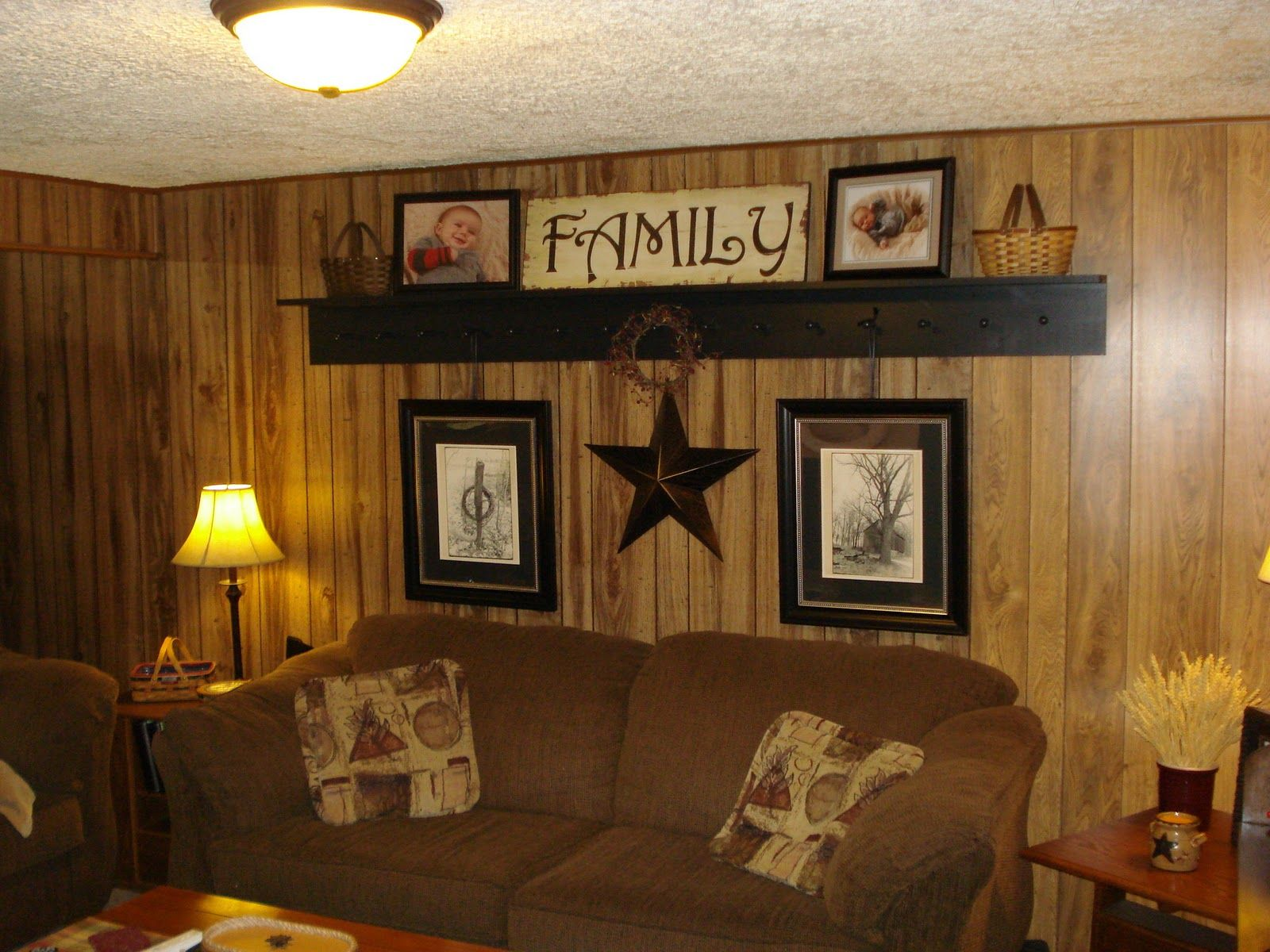 Wonderful Living Room With White Painted Wood Paneling Also Dark Wood Paneling Decor Wood Panel Walls Painted Paneling Walls