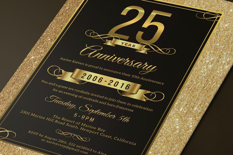 Elegant Anniversary Invitation Template Psd Download