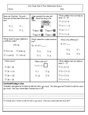 This Resource Has A Cumulative Assessment For Grade 1 Mathematics Math Assessment Math Methods Math