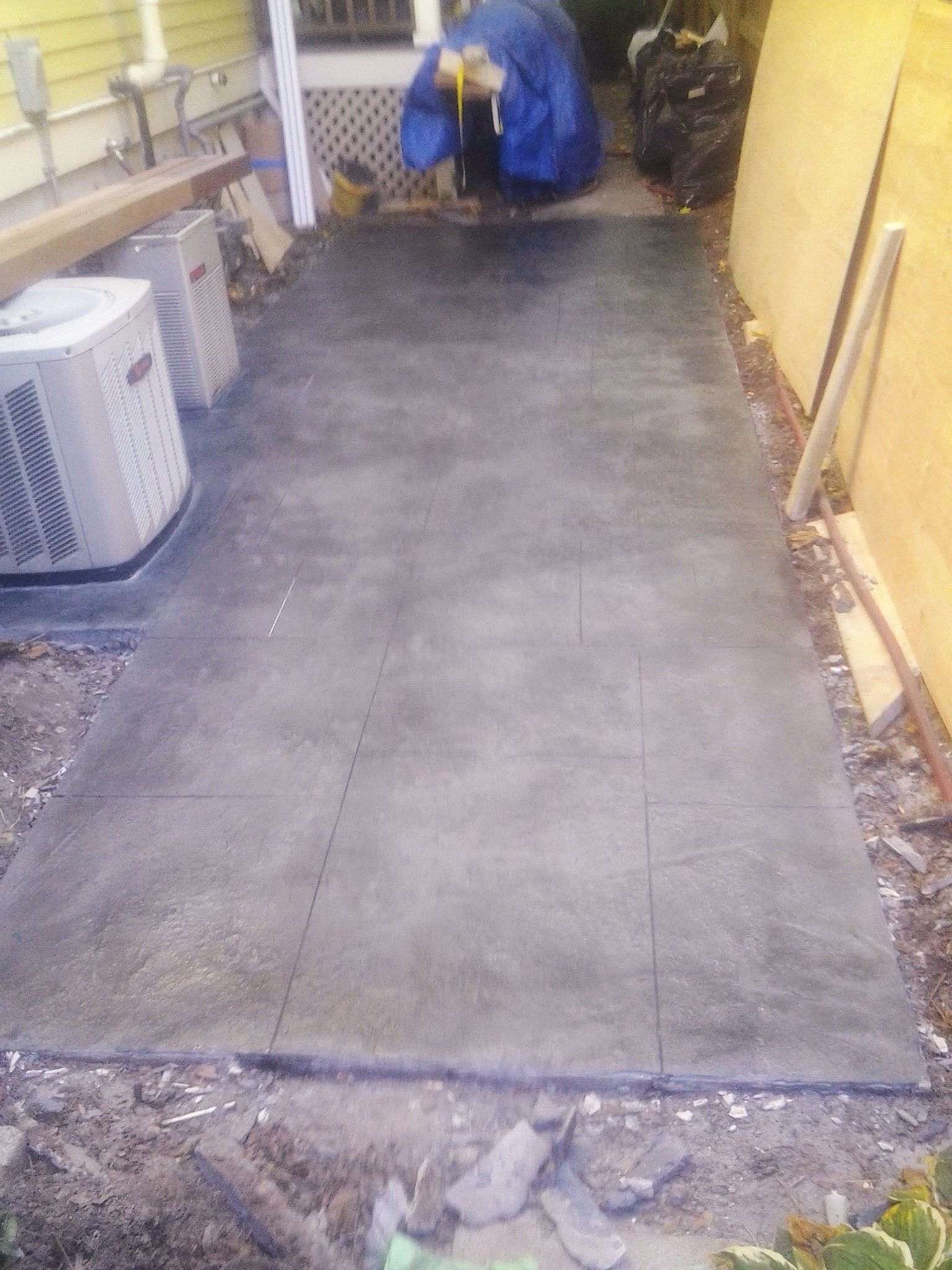 after faux bluestone overlay decorative concrete pinterest