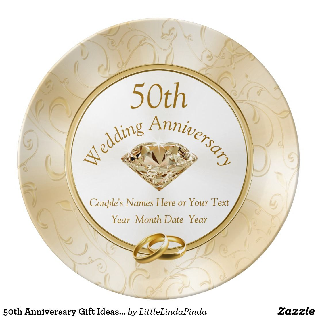50th Anniversary Gift Ideas For Friends Family Plate Zazzle Com In 2020 50th Anniversary Gifts Golden Anniversary Gifts Anniversary Gifts