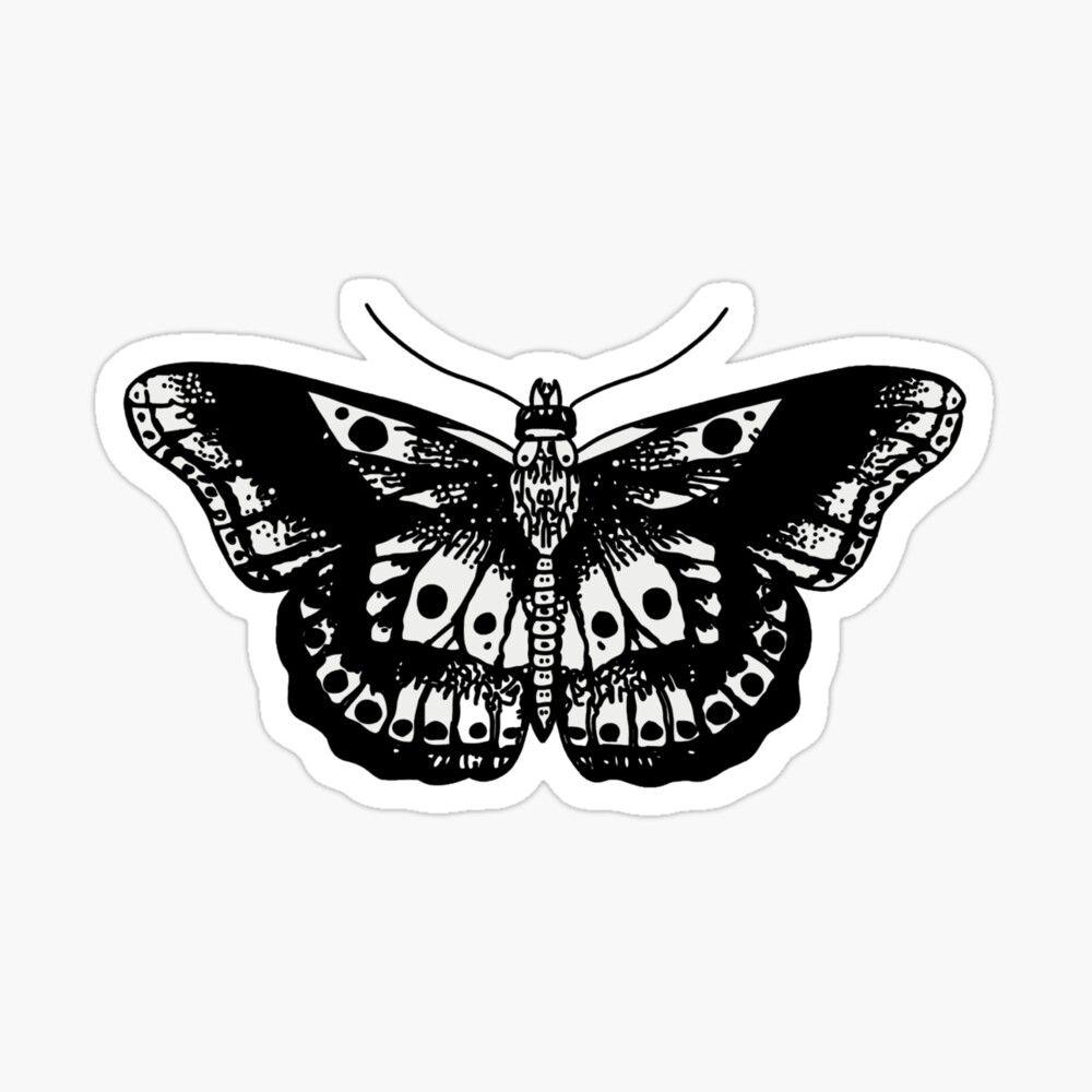 Harry Styles Butterfly Sticker By Ellencarney13 Harry Styles Tattoos Harry Styles Butterfly One Direction Tattoos