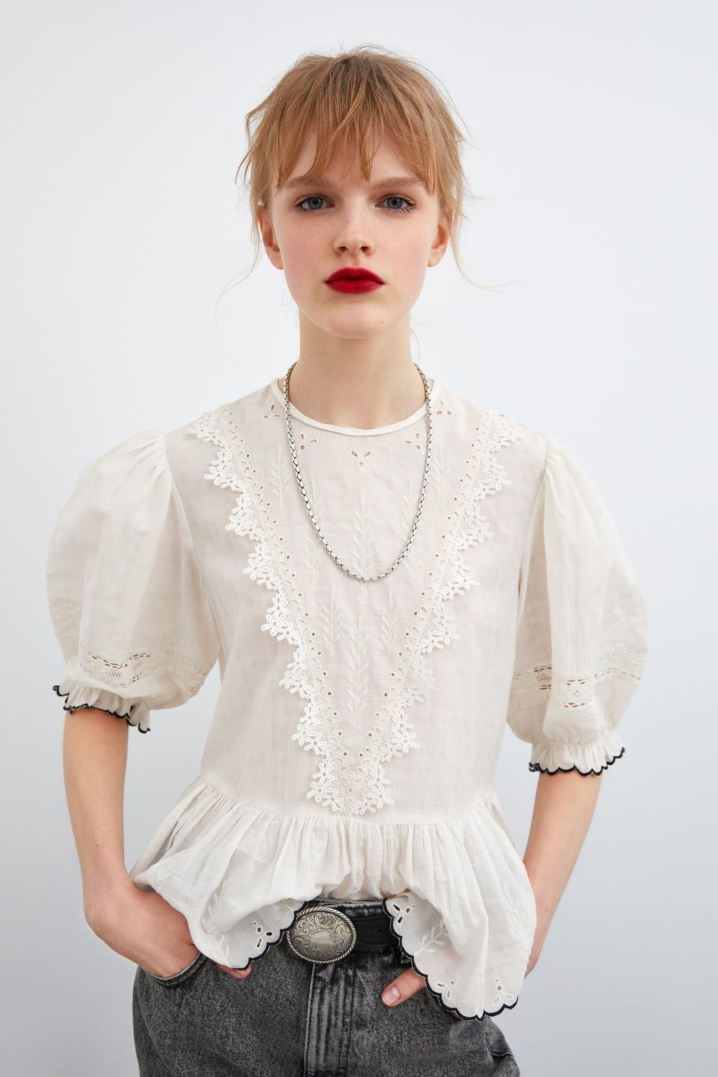 632e8035 OPENWORK EMBROIDERY BLOUSE - View All-SHIRTS | BLOUSES-WOMAN | ZARA United  States