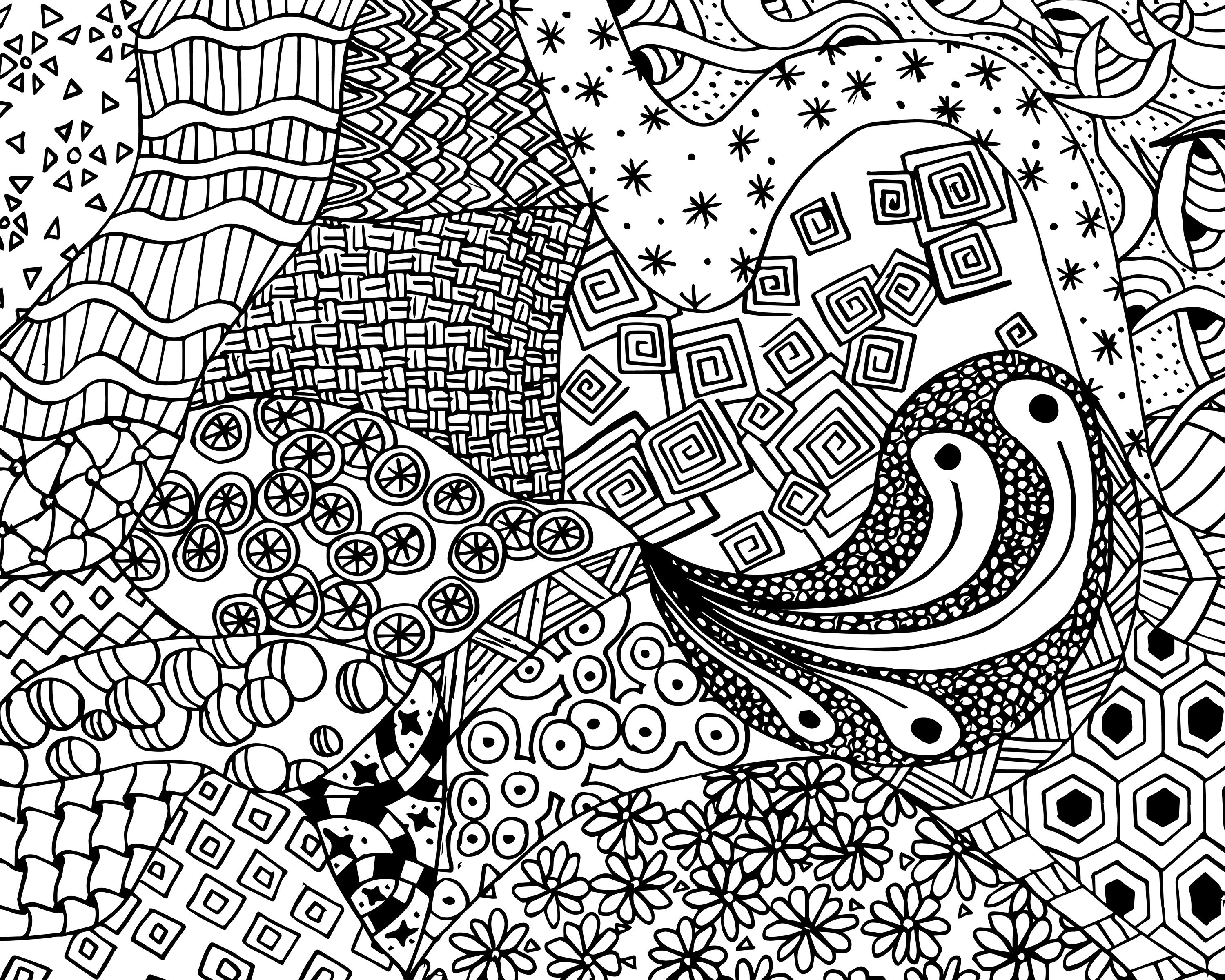 Free Zen Doodle Design Adult Coloring Page Free Printable