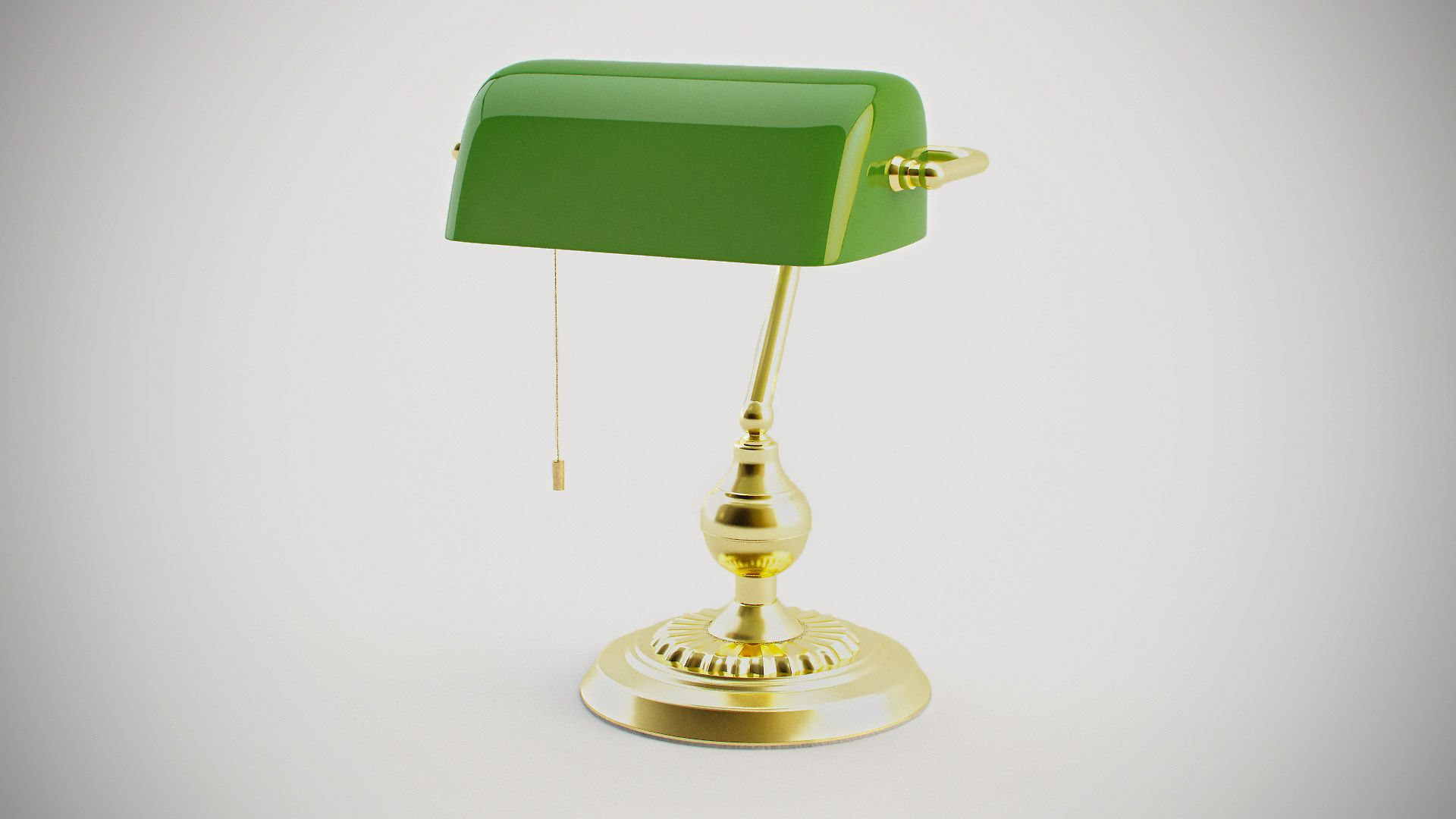 p table international lamp ore bankers in kt green gold lamps the