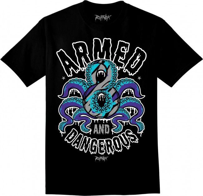Jordan 8 Aqua Shirt - Aquapus - Black  ade4f692e4c8