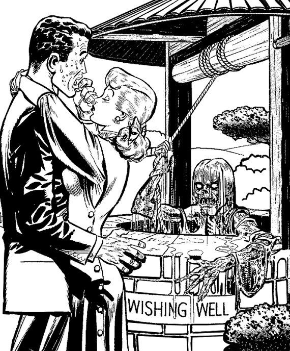 zombie wishing well couple horror comics by VellasCollageSheets ...