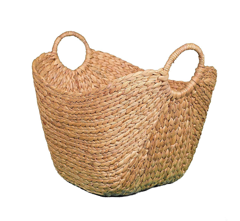 Amazon Com Birdrock Home Water Hyacinth Laundry Baskets Natural