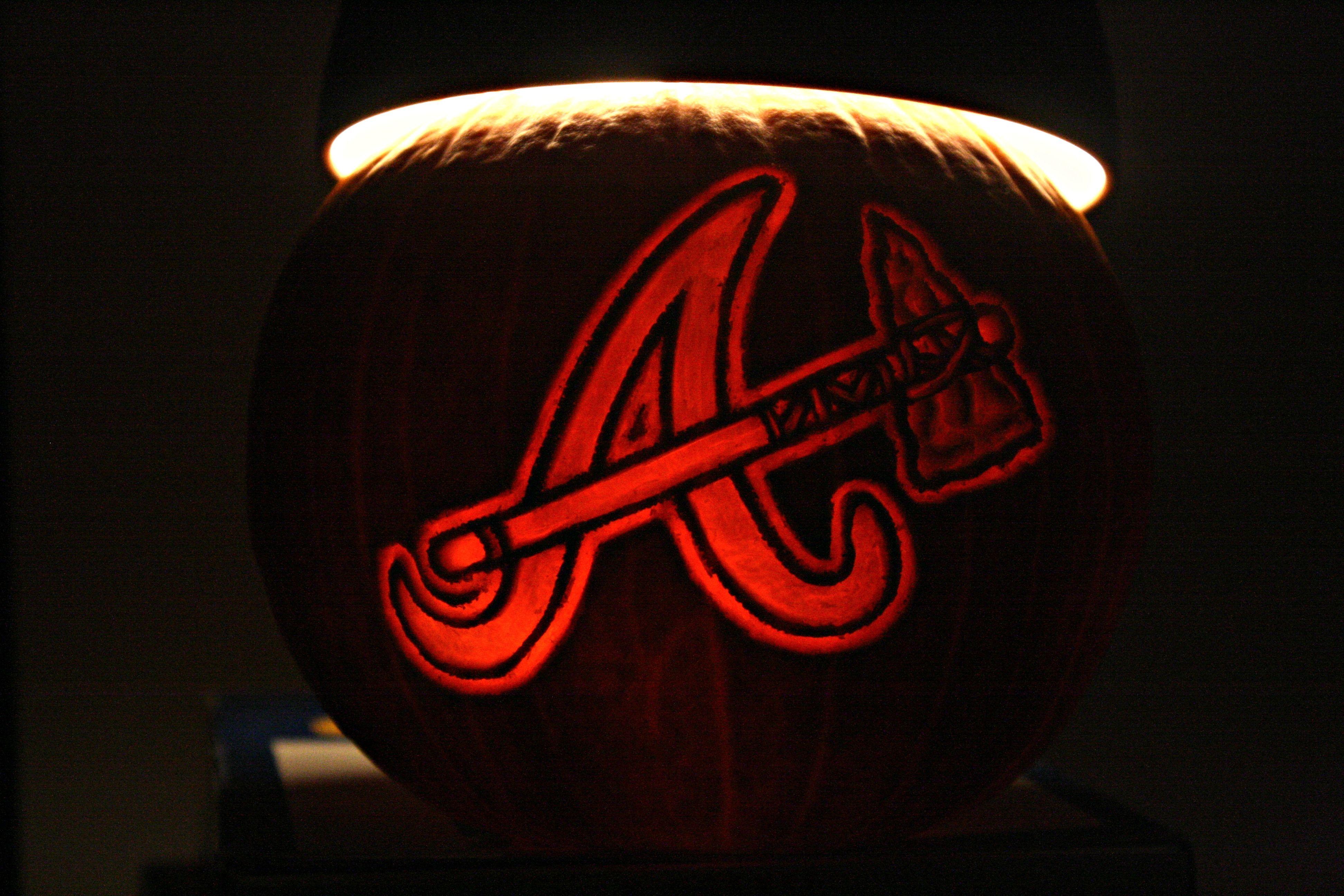 Atlanta Braves logo pumpkin! Atlanta braves wallpaper