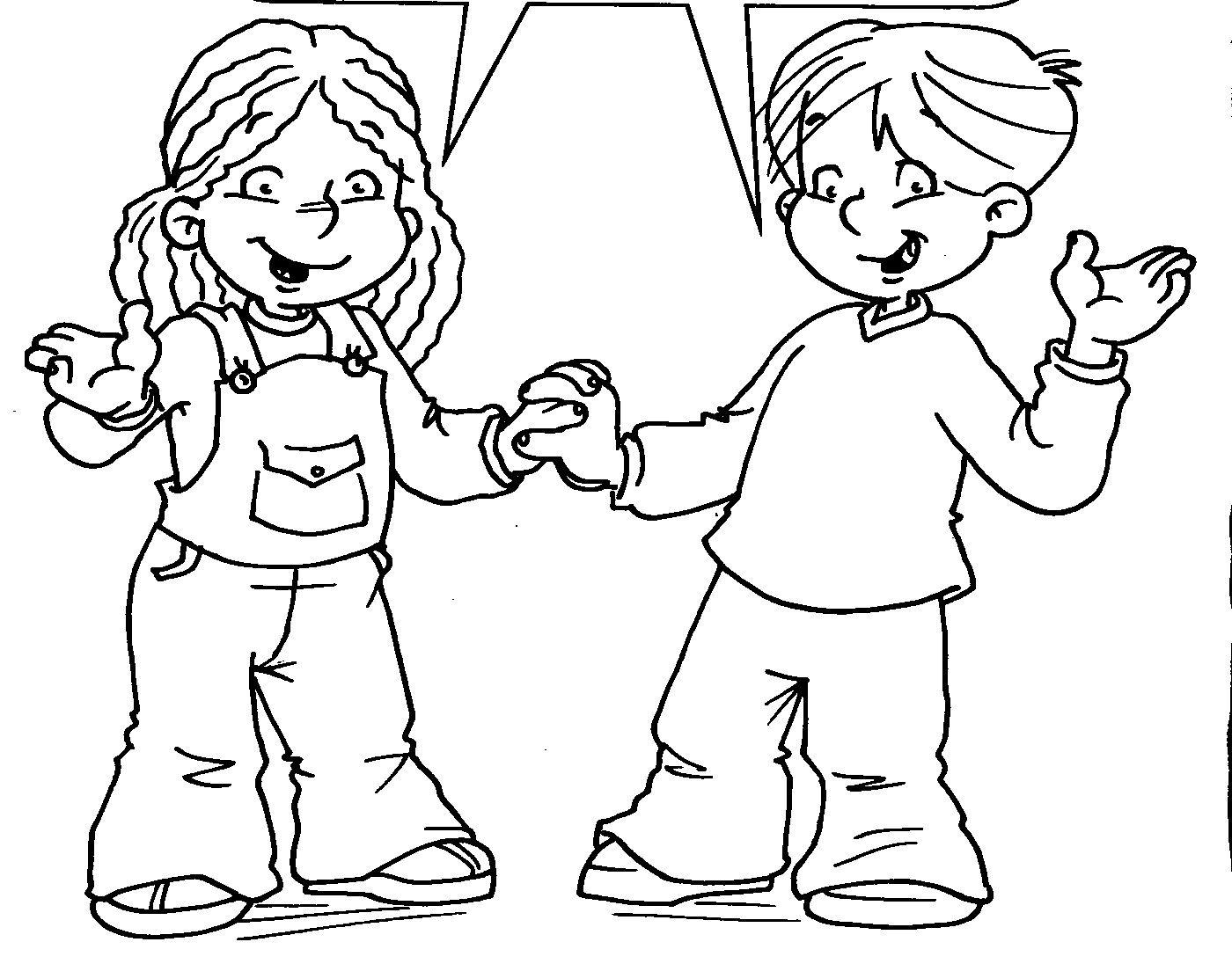 Convivencia Escolar Para Colorear Dibujos Para Colorear Infantil Female Sketch Art Humanoid Sketch