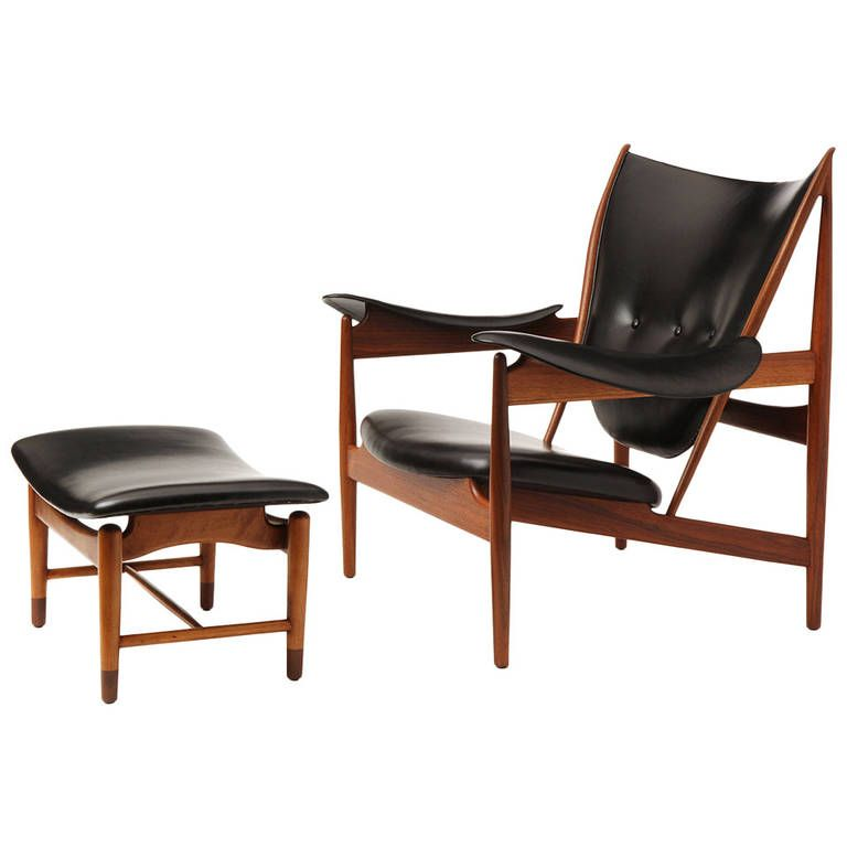 chieftain chair and ottoman by finn juhl from a unique collection