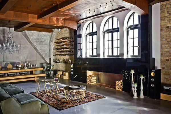 Industrial-chic urban loft in Budapest