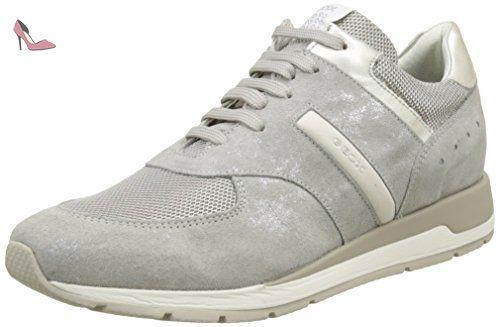 Geox D Thymar B, Sneakers Basses Femme, Gris (Lt Greyc1010), 41 EU