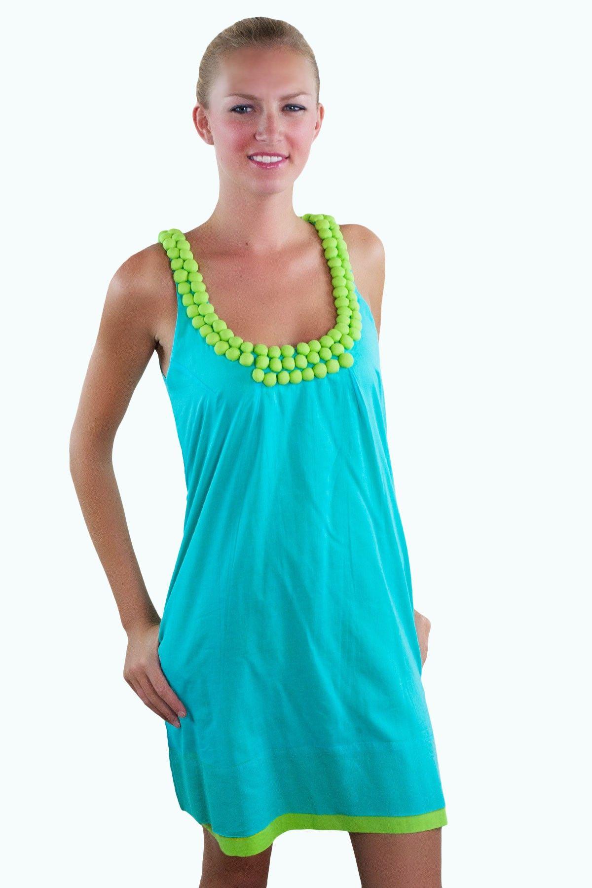 Cotton Jeweled Dress