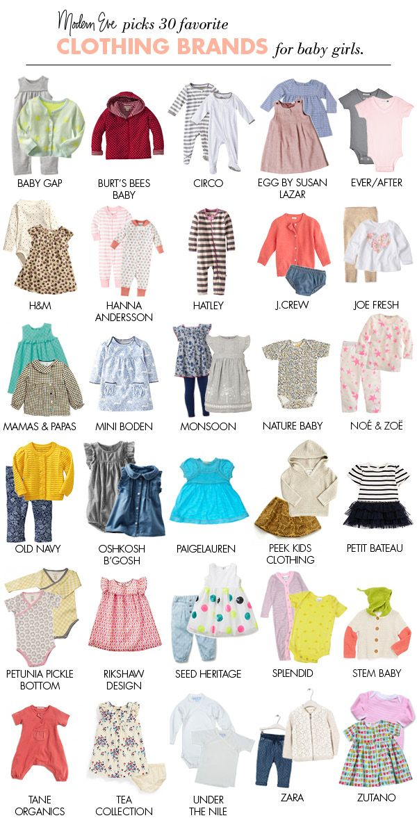 Best Baby Clothes Brands Inspiration 30 Clothing Brands For Baby Girls Modern Eve  Pinterest  30Th 2018