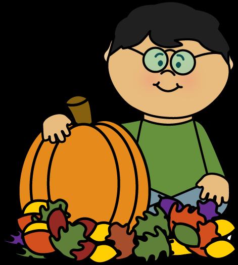 boy sitting in leaves with a pumpkin by mycutegraphics fall clip rh pinterest com Fall Pumpkin Clip Art Pumpkin Clip Art Transparent