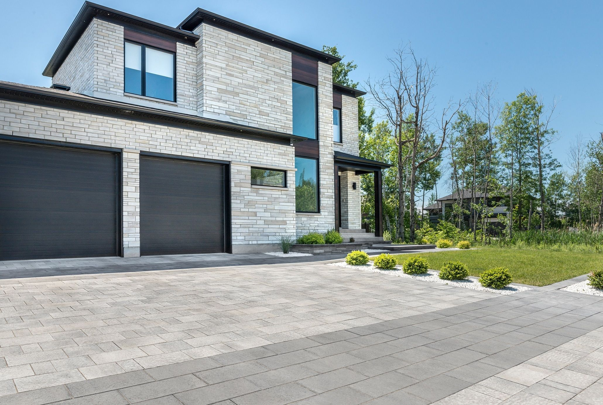 Contemporary Driveway Lorado Modern Homes Driveway Landscaping Driveway