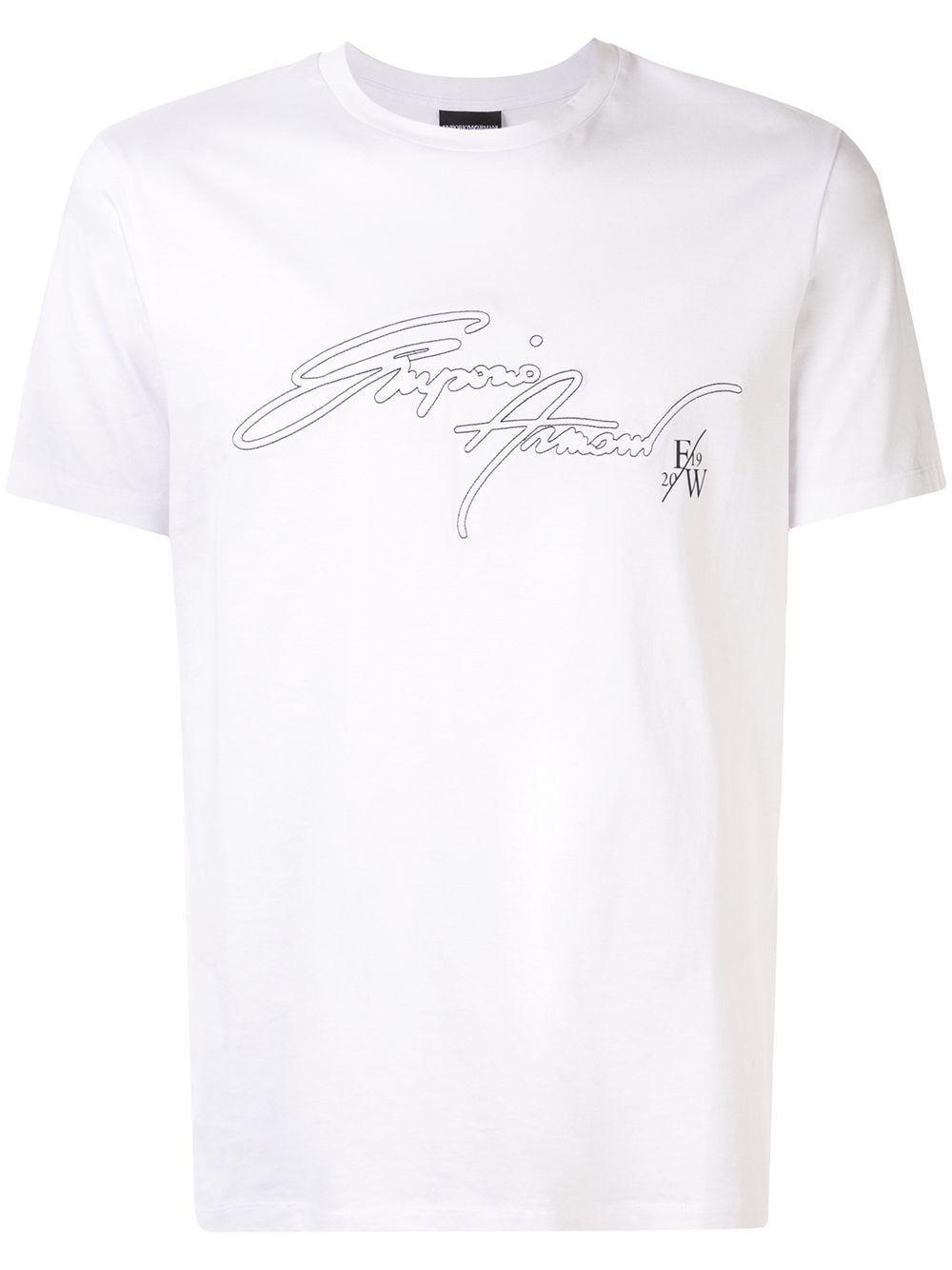 Emporio Armani Logo T Shirt White In 2019 Armani Logo Emporio
