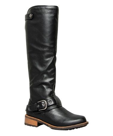 Look what I found on #zulily! Black Riding Boot #zulilyfinds
