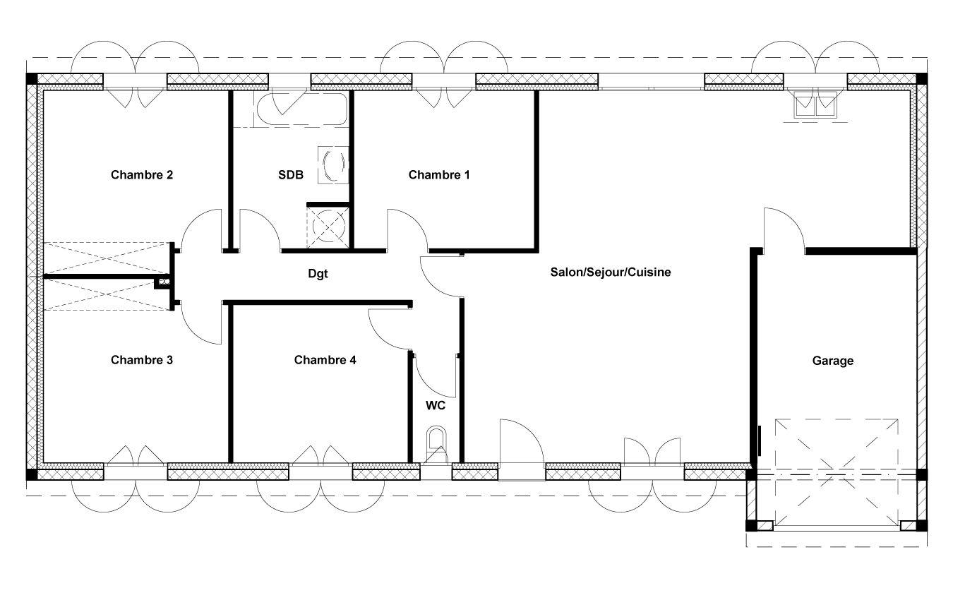 Image issue du site web - Plan maison plain pied 1 chambre ...