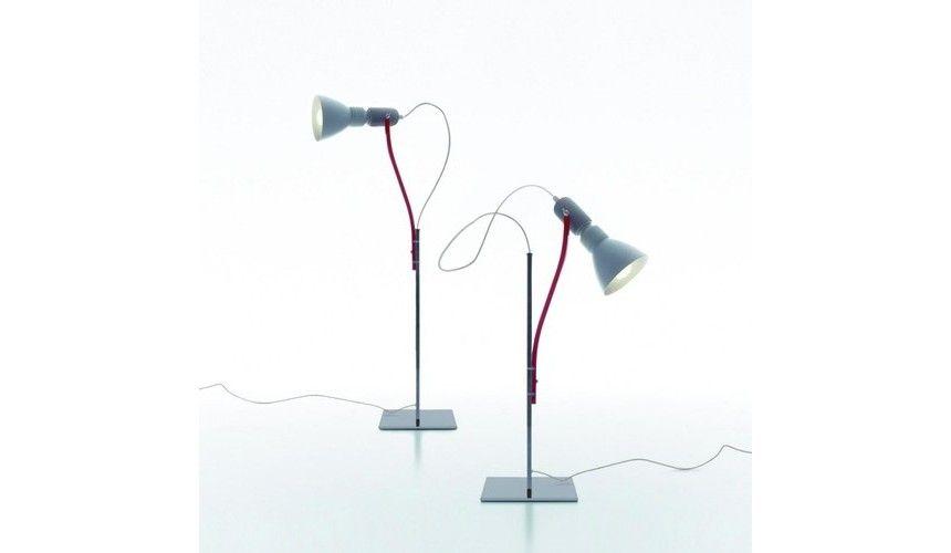 Danese - Brazil Table Lamp - aluminium/adjustable arm laquered red