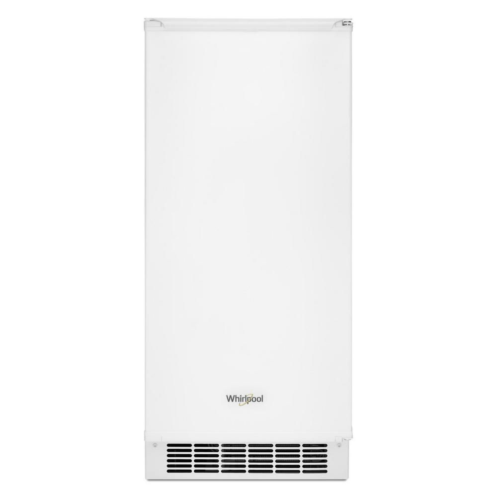 Whirlpool 15 in 50 lb builtin ice maker in white