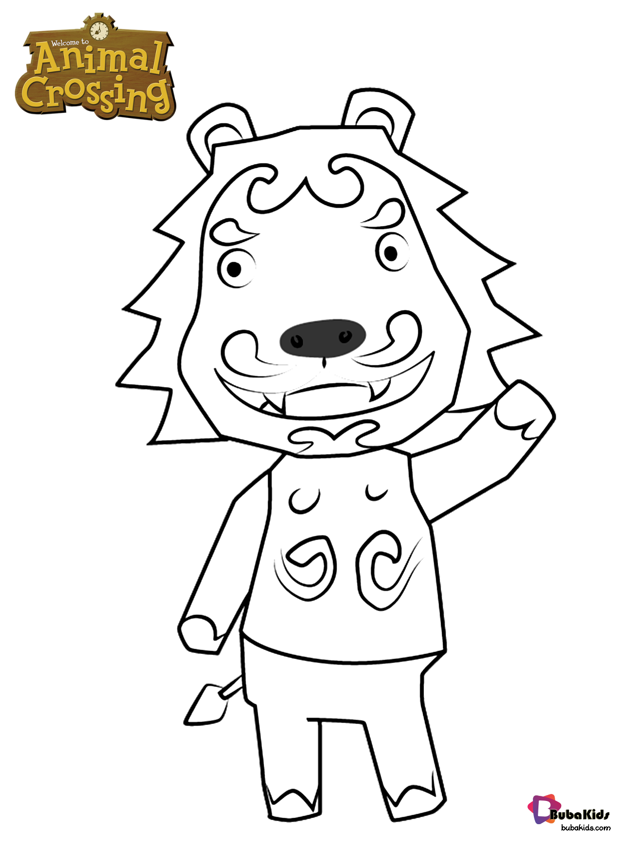 Free And Printable Picture Of Rory From Animal Crossing Character Coloring Page Collection Of Cartoon C In 2020 Animal Crossing Fan Art Animal Crossing Coloring Pages