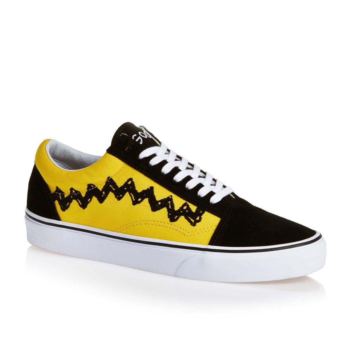 5682b8f12293 Vans x Peanuts Old Skool Shoes - Charlie Brown Black