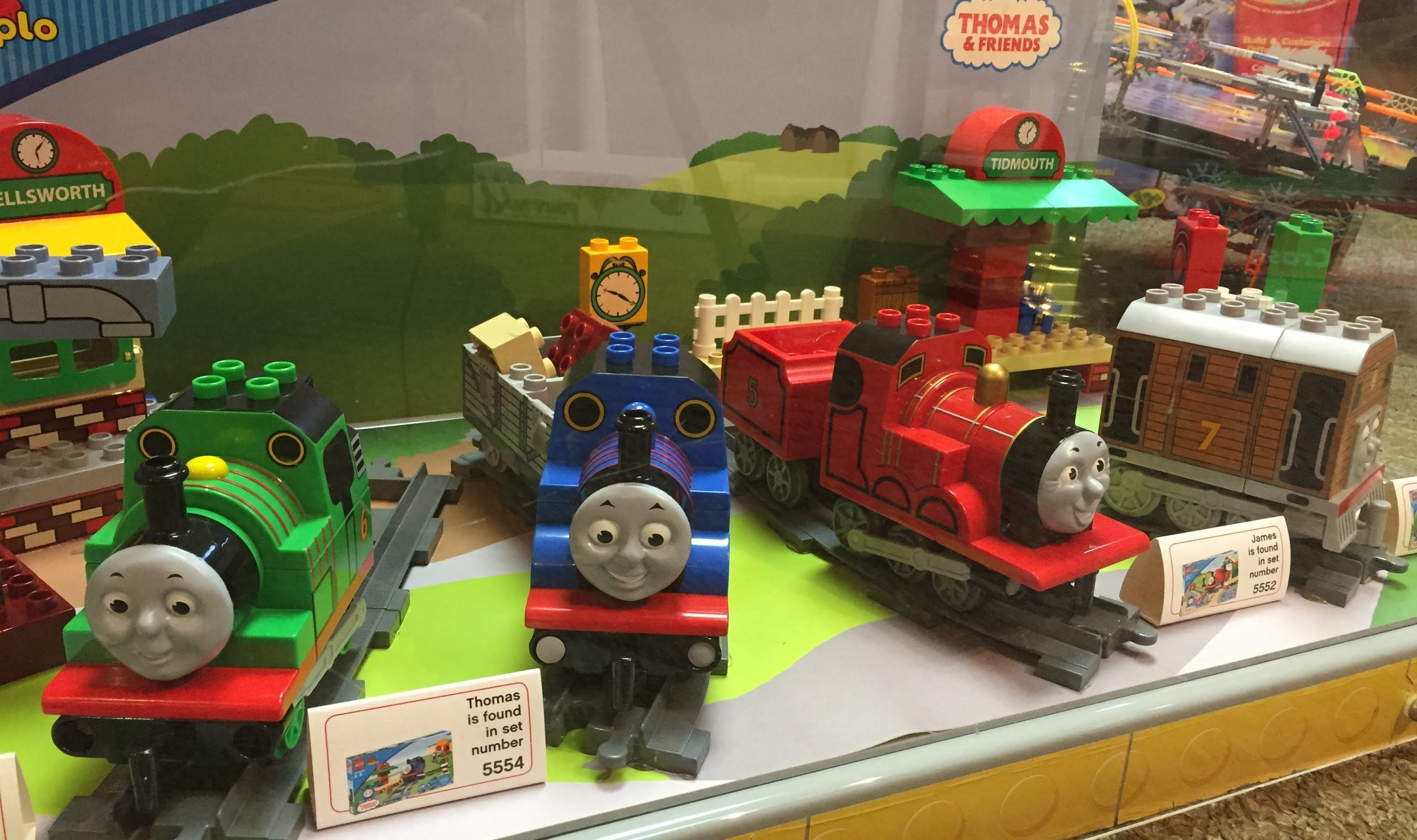 Thomas The Tank Engine And Friends Store Display Lego