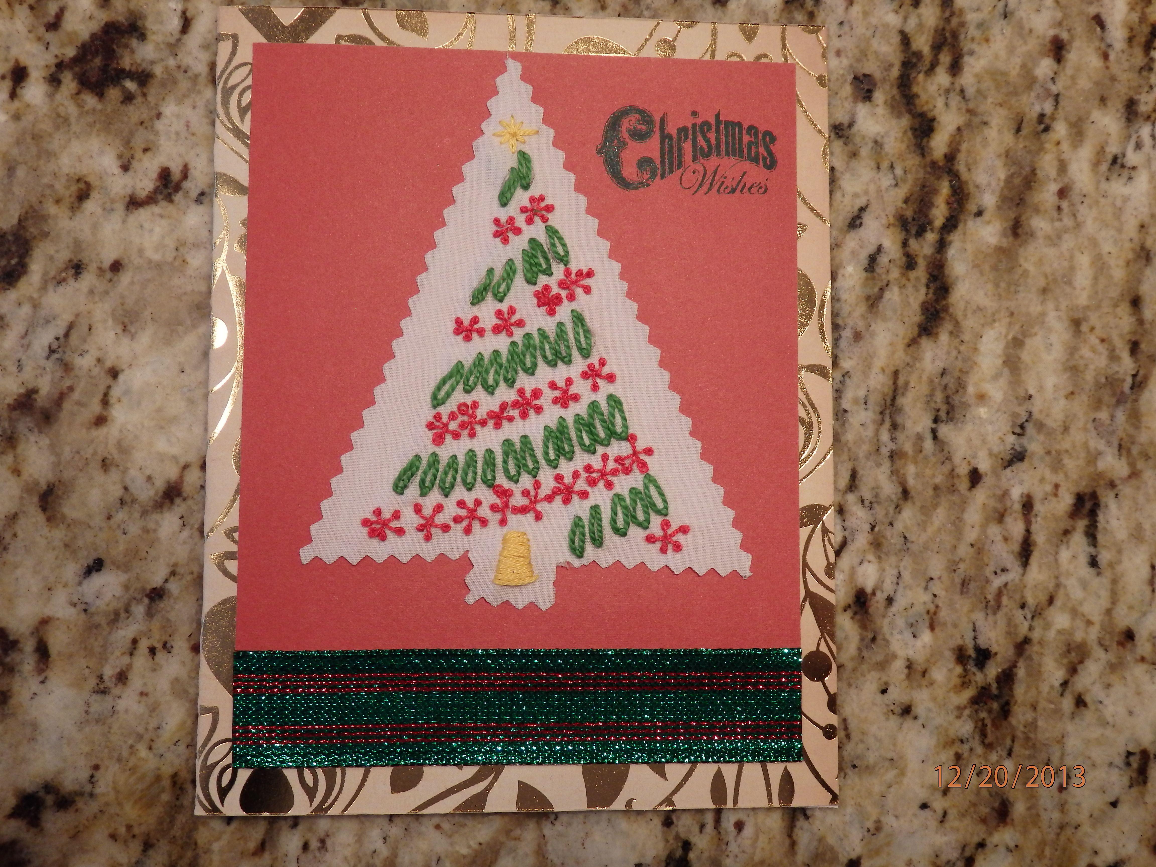 Hand embroidered Christmas card | Card Ideas | Pinterest | Card ideas