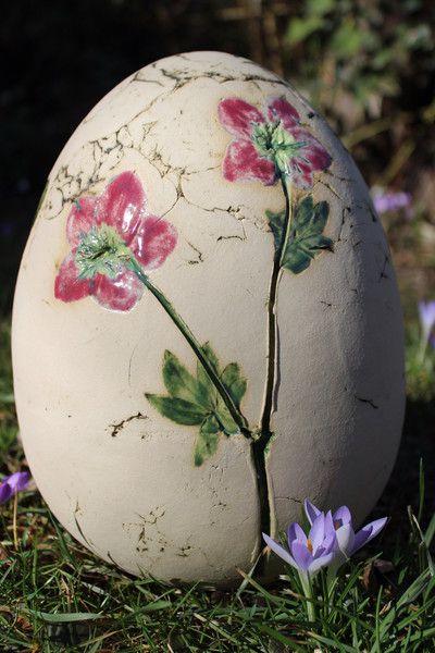 Osterdeko - Ei (30 cm) - ein Designerstück von Atelier-Keramixx bei DaWanda #ceramicpainting