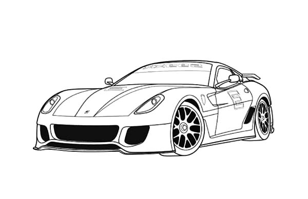 Ferrari 599 Sports Cars Coloring Pages Kids Play Color Cars Coloring Pages Ferrari 599 Ferrari