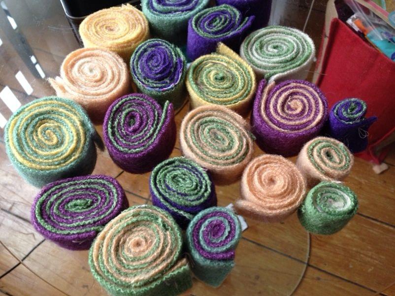 Handmade Rugs Diy Rug Felted Wool Crafts