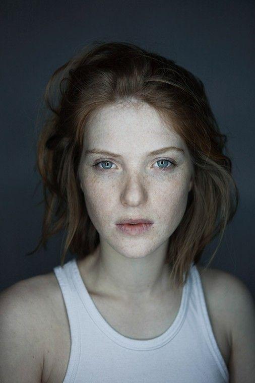 red hair - white skin