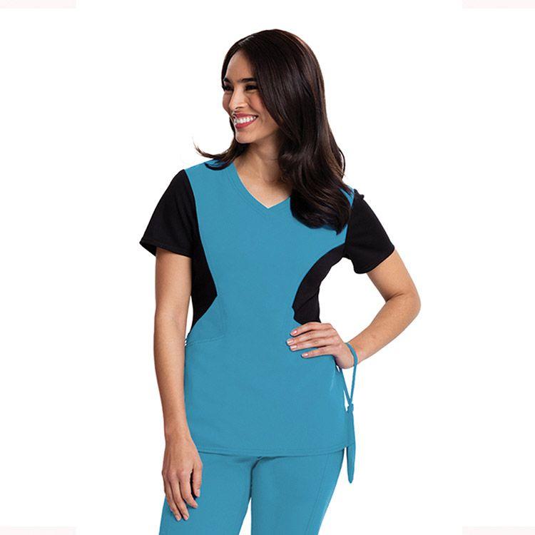 e36dd54ff0a Careisma By Sofia Vergara Women's Sofia V-Neck Colorblock Solid Scrub Top