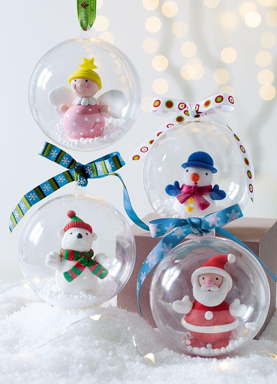 Boule Plastique A Decorer je réalise mes boules de noël !   fabriquer deco de noel