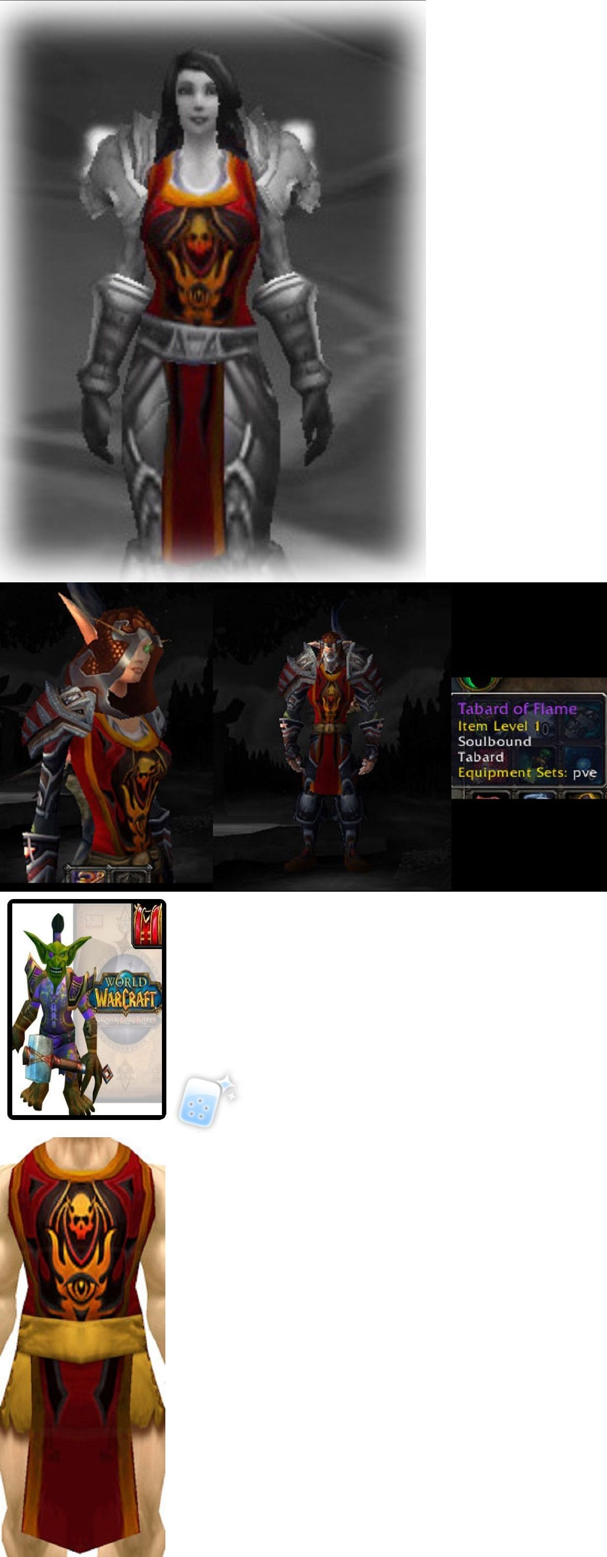 ** TABARD OF THE FLAME RED ** WORLD OF WARCRAFT LOOT from TCG Landro Longshot