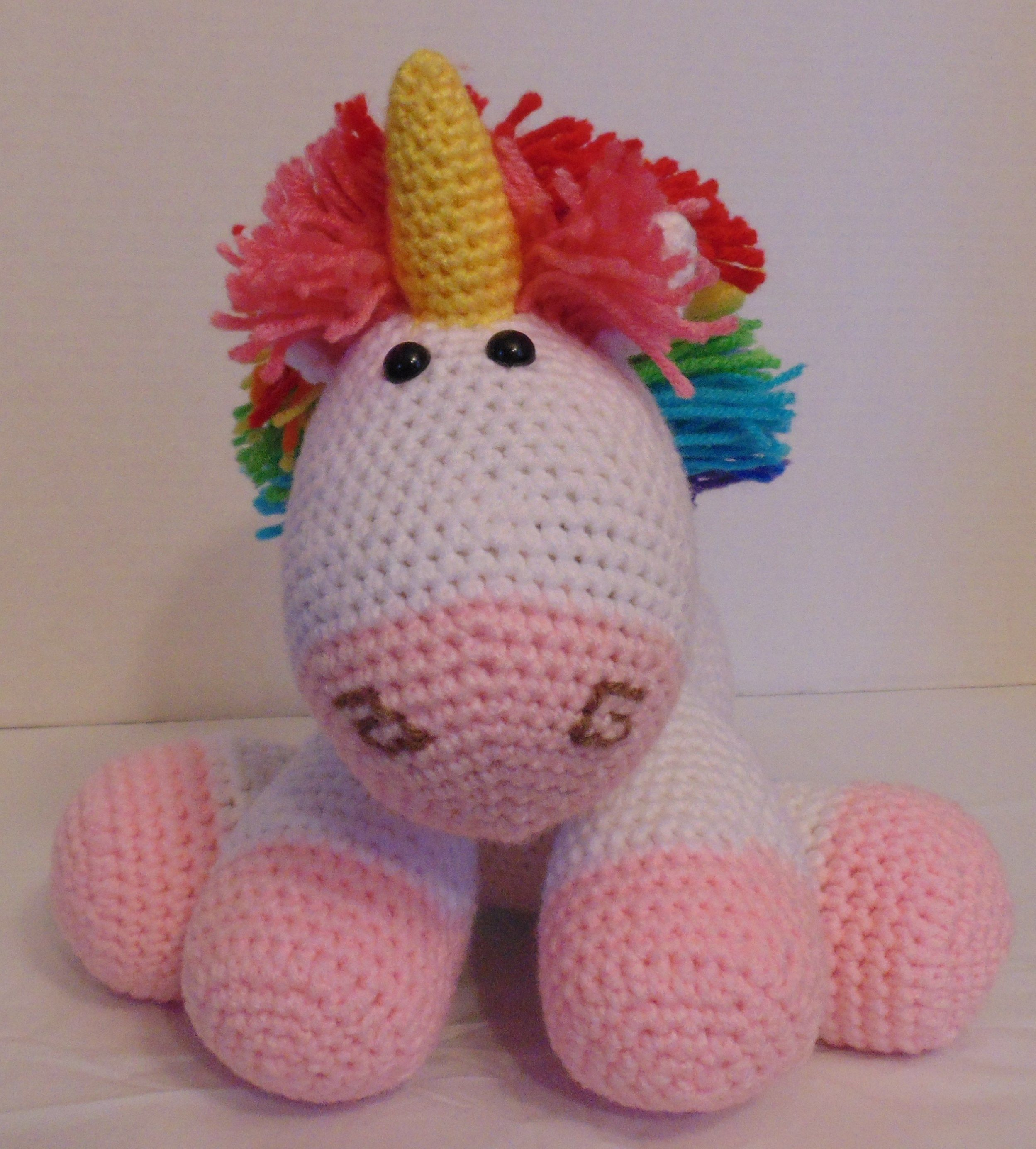Rainbow Cuddles Unicorn. Pattern found on One Dog Woof. Used Red ...