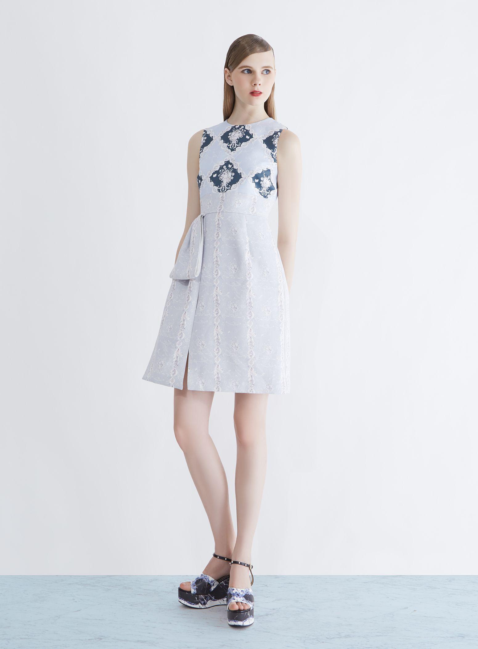 Grid View Wallpaper Sleeveless Dress