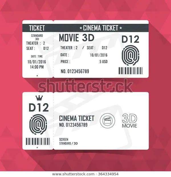 Movie Ticket Design Google Search Movie Tickets Cinema Ticket Ticket Design